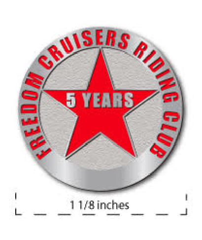 Five Year Member Pin