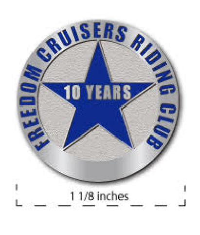 Ten Year Member Pin